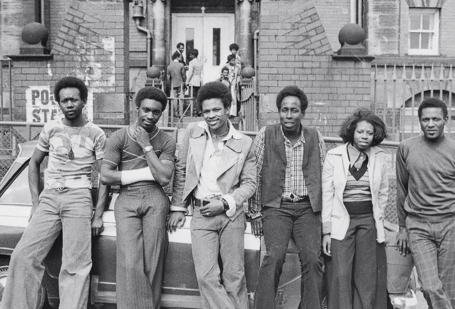LWIC committee members outside Earl Cowper School on polling day 1974